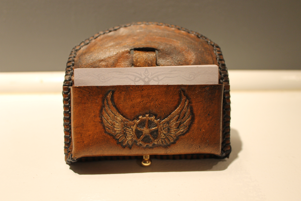Steampunk Leather Card Wallet