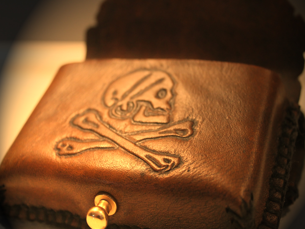 PIrate Map Leather Card Wallet