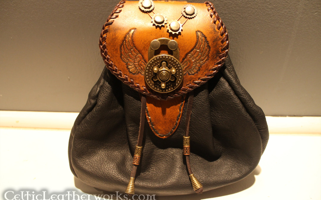 Leather Steampunk Wings Sporran