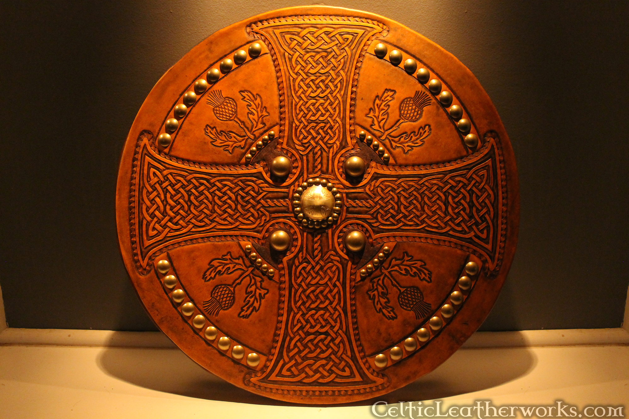 The Thistle And Cross Targe Celtic Leatherworks