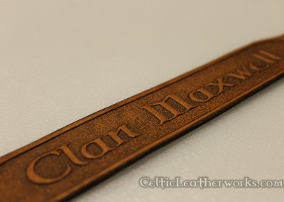The Clan Maxwell Leather Wristband