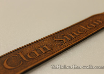 The Clan Sinclair Leather Wristband