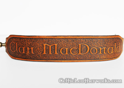 The Clan MacDonald Leather Wristband