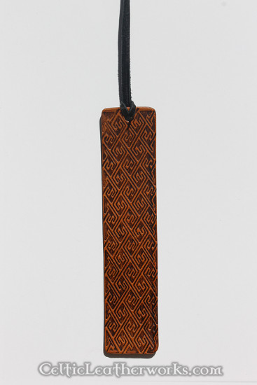 These are leather bookmarks with embossed Celtic images. Made from top grain vegetable tanned leather.