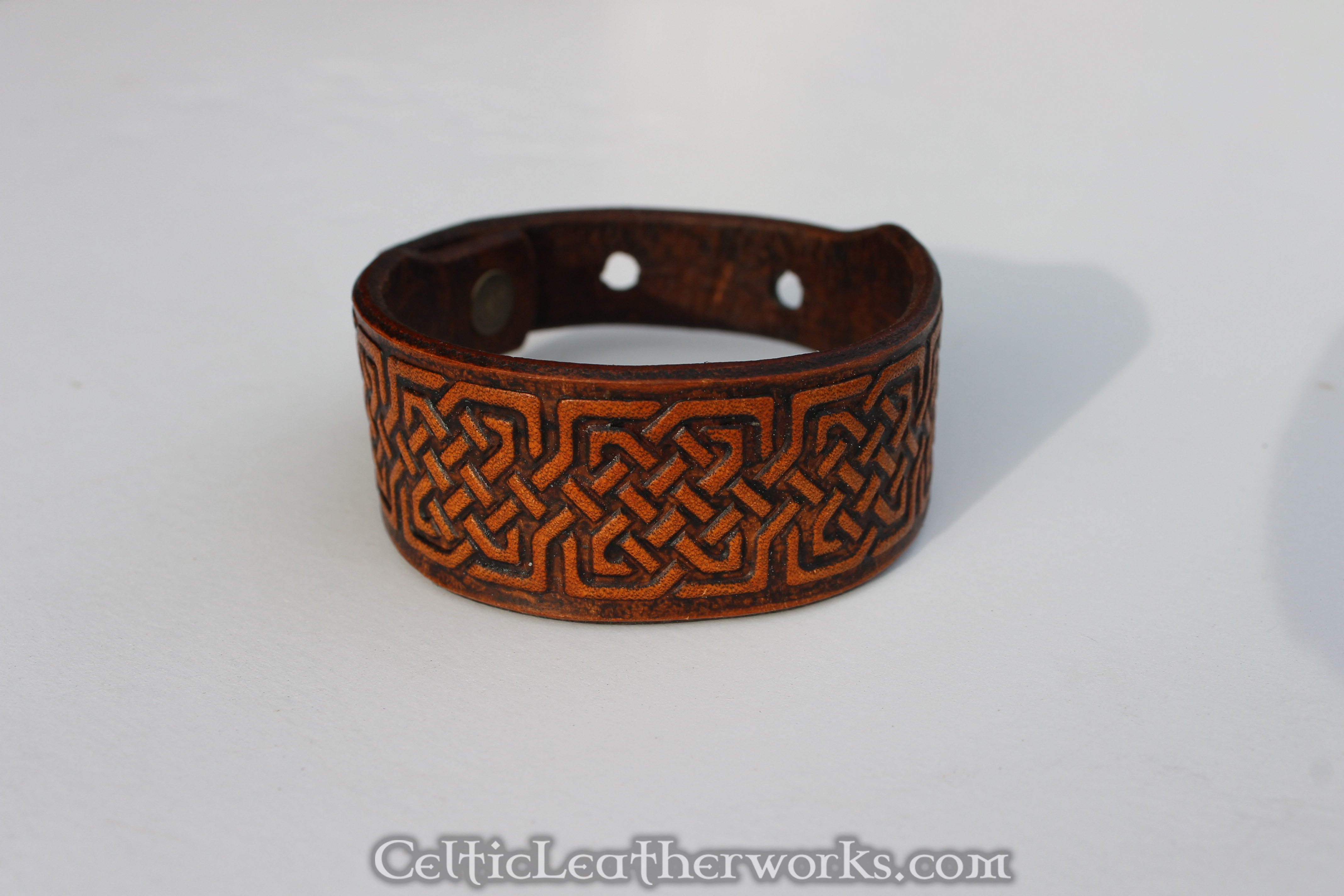 Squared Knot Celtic Leather Cuff