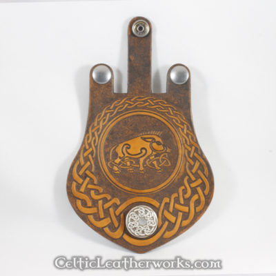 This Celtic Boad flap is for the Interchangeable Flap Sporran by Celtic Leatherworks.