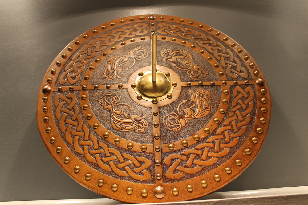 The Celtic Dragon Targe Celtic Leatherworks